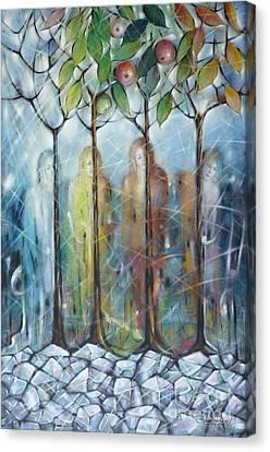 4 Seasons On Ice 061110 Canvas Print by Selena Boron