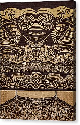 Sharpie On Cardboard Canvas Print by HD Connelly