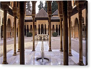Spain. Granada. Alhambra. Alhambra Canvas Print by Everett