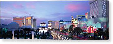 The Strip, Las Vegas, Nevada, Usa Canvas Print by Panoramic Images
