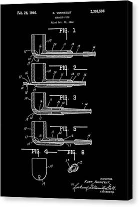 Tobacco Pipe Patent 1944 - Black Canvas Print by Stephen Younts