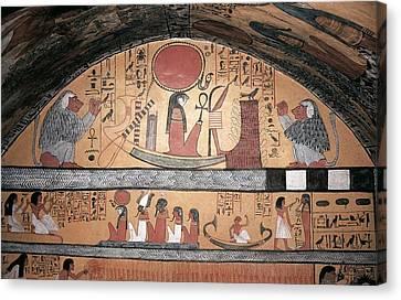 Tomb Of Sennedjem. 1306 -1290 Bc Canvas Print by Everett