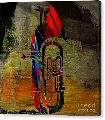 Tuba Canvas Print by Marvin Blaine