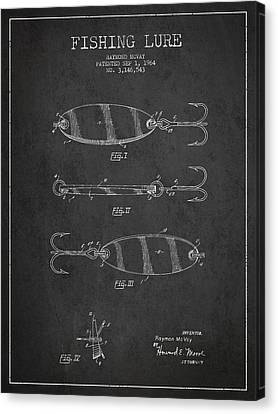 Vintage Fishing Lure Patent Drawing From 1964 Canvas Print by Aged Pixel