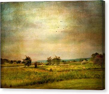 Vintage Valley View Canvas Print by Jessica Jenney