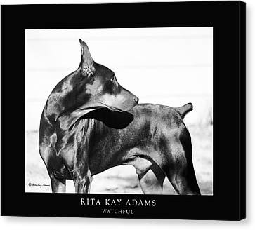 Watchful Canvas Print by Rita Kay Adams