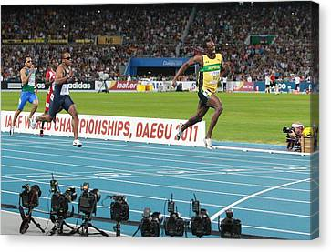World Athletics Championships, Korea Canvas Print by Science Photo Library