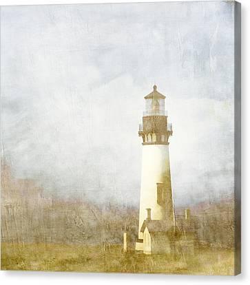 Yaquina Head Light Canvas Print by Carol Leigh