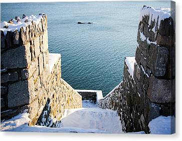 40 Steps In Winter Canvas Print by Allan Millora