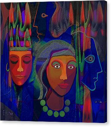 428 - Exotic Couple 2 Canvas Print by Irmgard Schoendorf Welch