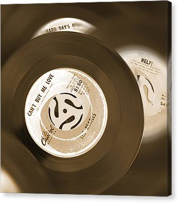 45 Rpm Records Canvas Print by Mike McGlothlen