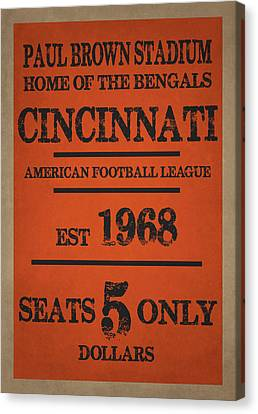 Cincinnati Bengals Canvas Print by Joe Hamilton