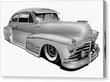 48 Chevy Fleetline Canvas Print by Lyle Brown