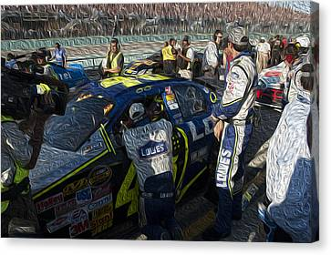 48 Team Canvas Print by Kevin Cable