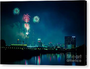 4th Of July At Indianapolis Canvas Print by Jose Sanchez