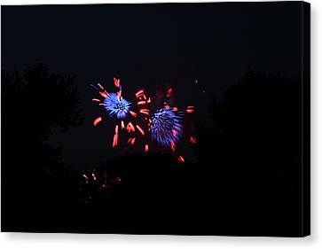 4th Of July Fireworks - 011323 Canvas Print by DC Photographer