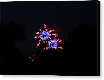4th Of July Fireworks - 011324 Canvas Print by DC Photographer