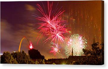 4th Of July In St Louis Canvas Print by Garry McMichael