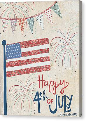 4th Of July Canvas Print by Katie Doucette