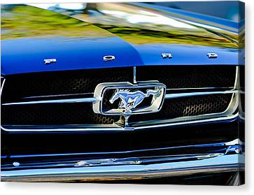 1965 Shelby Prototype Ford Mustang Grille Emblem Canvas Print by Jill Reger