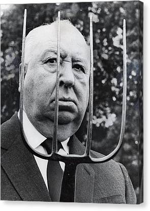 Alfred Hitchcock Canvas Print by Retro Images Archive
