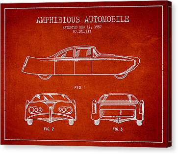 Amphibious Automobile Patent From 1957 Canvas Print by Aged Pixel