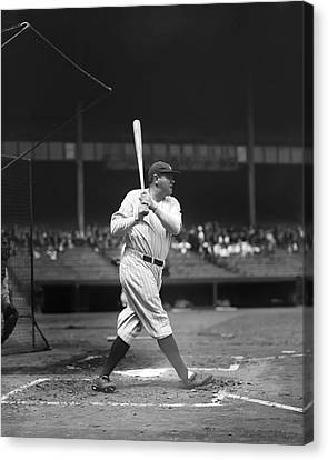 Babe Ruth New York Yankees Canvas Print by Retro Images Archive