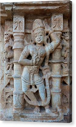 Bas Relief Chittaurgarh Citadel 6th Canvas Print by Tom Norring