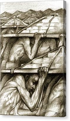 Biblical Illustration Canvas Print by Alex Tavshunsky