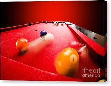 Billards Pool Game Canvas Print by Michal Bednarek