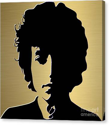 Bob Dylan Gold Series Canvas Print by Marvin Blaine