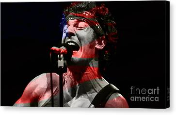 Bruce Springsteen Canvas Print by Marvin Blaine