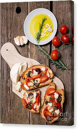 Bruschetta Canvas Print by Viktor Pravdica