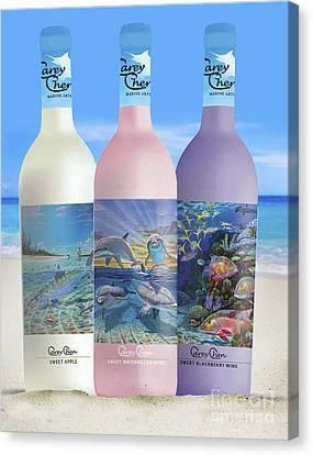 Carey Chen Fine Art Wines Canvas Print by Carey Chen