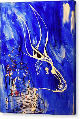 Dinka Livelihood - South Sudan Canvas Print by Gloria Ssali