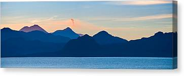 Lake With Mountains In The Background Canvas Print by Panoramic Images