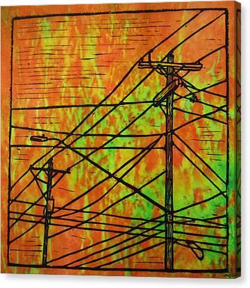 Lines Canvas Print by William Cauthern