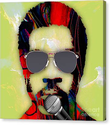 Lionel Richie Collection Canvas Print by Marvin Blaine
