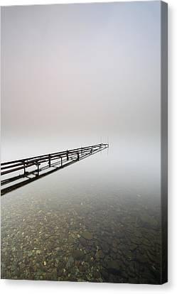 Loch Lomond Jetty Canvas Print by Grant Glendinning