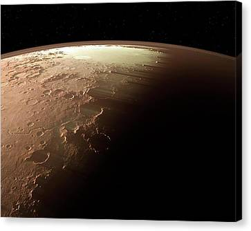 Mars Canvas Print by Detlev Van Ravenswaay