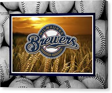 Milwaukee Brewers Canvas Print by Joe Hamilton