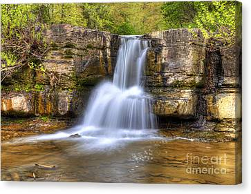 Natural Dam Falls Canvas Print by Twenty Two North Photography