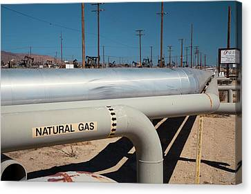 Natural Gas Pipelines Canvas Print by Jim West