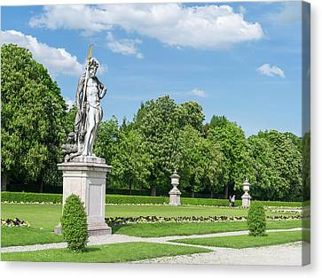 Nymphenburg Palace And Park In Munich Canvas Print by Martin Zwick