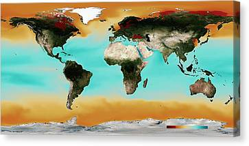 Ocean Carbonate Saturation Canvas Print by Noaa