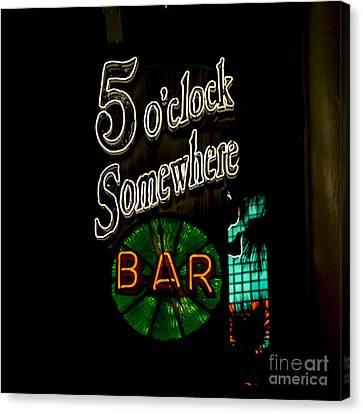 5 O'clock Somewhere Bar Canvas Print by Nina Prommer