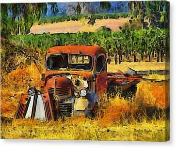 Retired Relics Canvas Print by Barbara Snyder