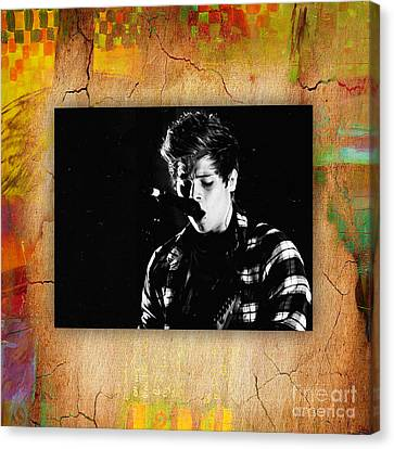 5 Seconds Of Summer  Luke Hemmings Canvas Print by Marvin Blaine
