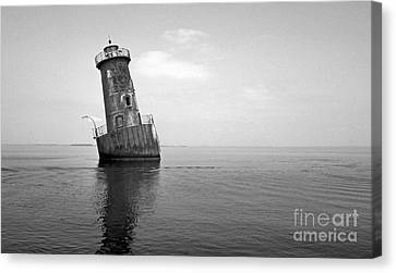 Sharps Island Lighthouse Canvas Print by Skip Willits