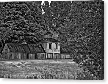 5 Star Barn Bw Canvas Print by Steve Harrington